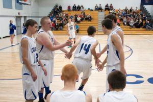 Calumet vs Dollar Bay varsity boys basketball, 12/15/2014