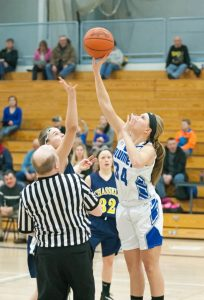 Varsity girls basketball vs Chassell, 1/26/2015