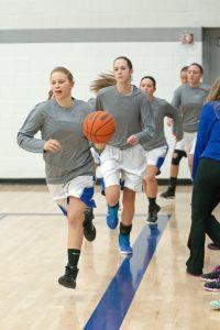 Girls varsity basketball vs Ishpeming, 12/22/2015