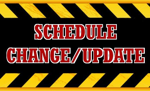 Rescheduled Games Announced