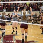 Mount Vernon High School (Mt. Vernon) Girls Varsity Volleyball beat EV. Bosse in Ihsaa Sectional 3-0