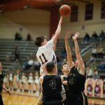 Mount Vernon High School  Boys Varsity Basketball falls to Jasper High School 72-84