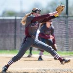 Mount Vernon High School (Mt. Vernon) Varsity Softball beat Princeton 15-2