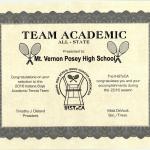 Boys Tennis Team IHSTeCA Academic All-State!