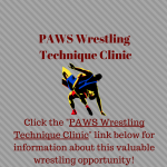 PAWS Wrestling Technique Clinic