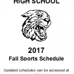 2017 Fall Sports Schedule Logo