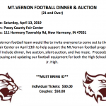 Mt. Vernon Football Dinner & Auction