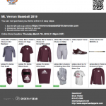 Baseball 2019 Online Store Now Open!