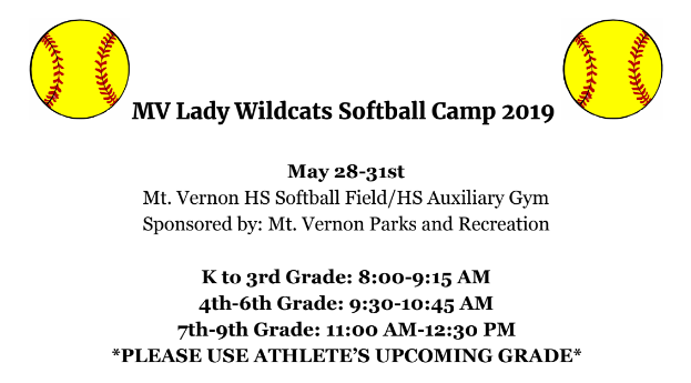 Announcing the 2019 Summer Softball Camp!