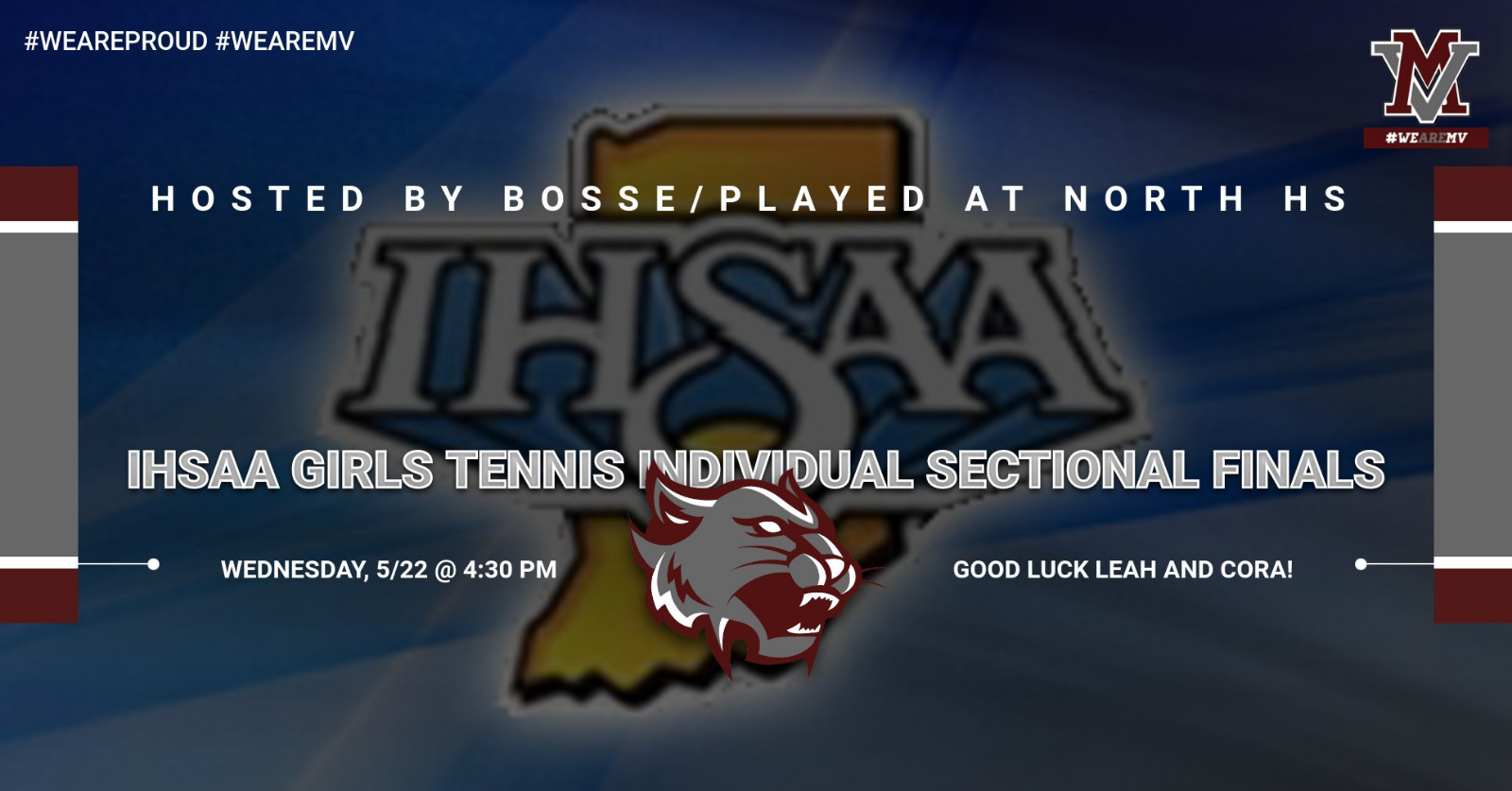 IHSAA Individual Tennis Tournament Sectional Finals!