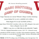 'Bash Brothers Camp of Champs – 2019 Wrestling Camp