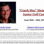"""Coach Mac"" Memorial Junior Golf Camp"