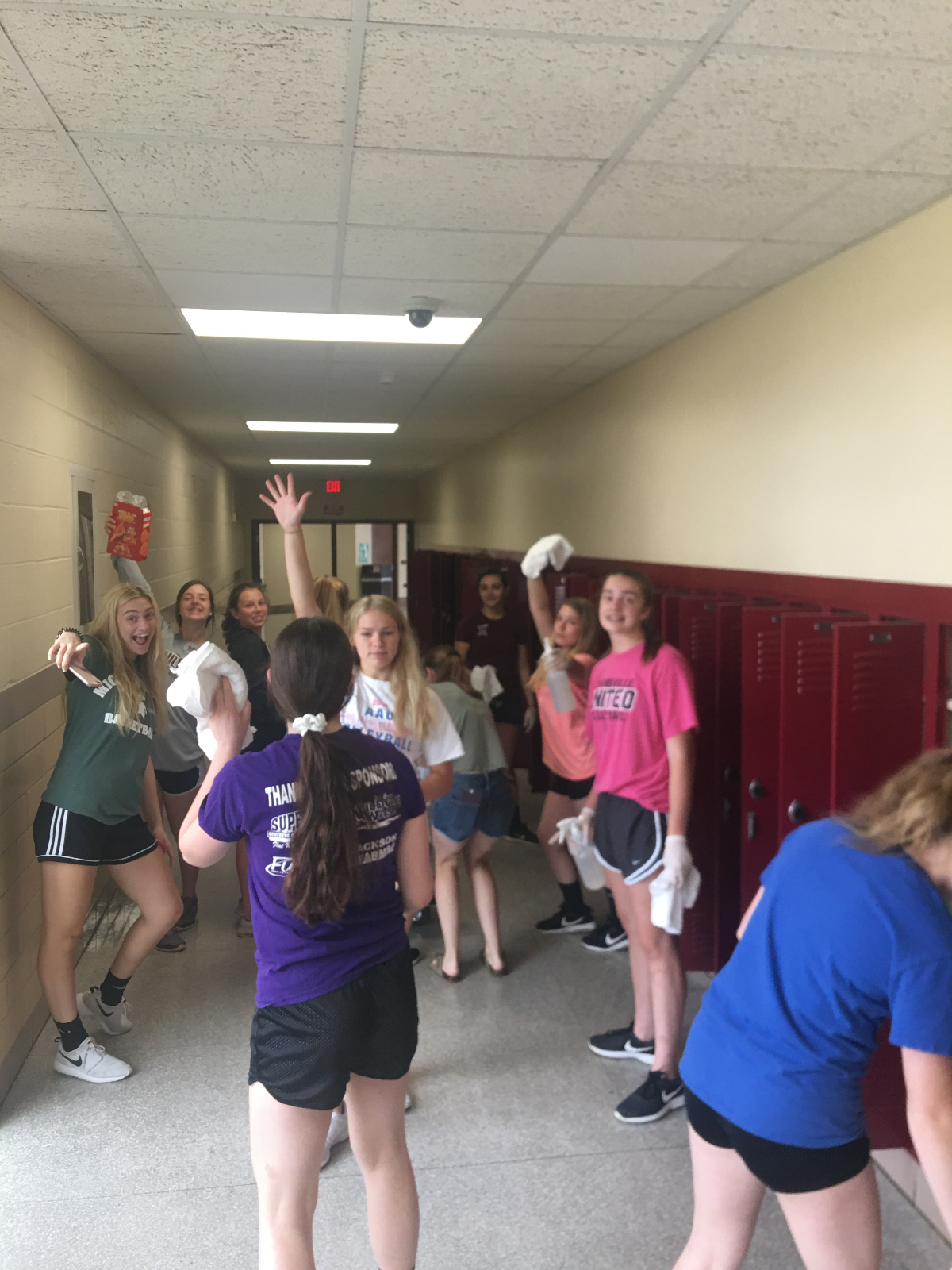 Volleyball Helps Clean Up High School