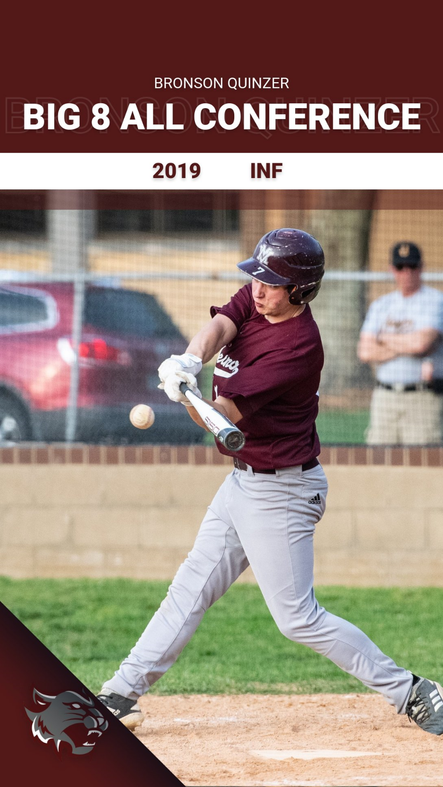 Quinzer Earns All-Conference Recognition for Baseball!