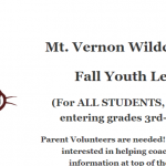 Reminder: Sign-ups Open for Mt. Vernon Youth Basketball Fall League