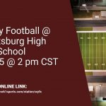 Varsity Football @ Scottsburg High School on Saturday @ 2 pm, CST!