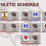 Athletic Schedule for 1/6 – 1/11