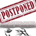 MVHS Athletic Practices/Events Postponed Starting 3/16 Until Further Notice