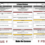 """Additional """"At Home Workout Ideas"""" from Florida State HS"""