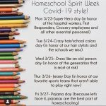 Spring Break – Homeschool Spirit Week!