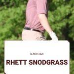 Spring Sport Senior Spotlight:  Rhett Snodgrass