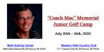 """Coach Mac"" Memorial Junior Golf Camp"