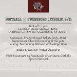 Football Travels to Owensboro Catholic Tonight!