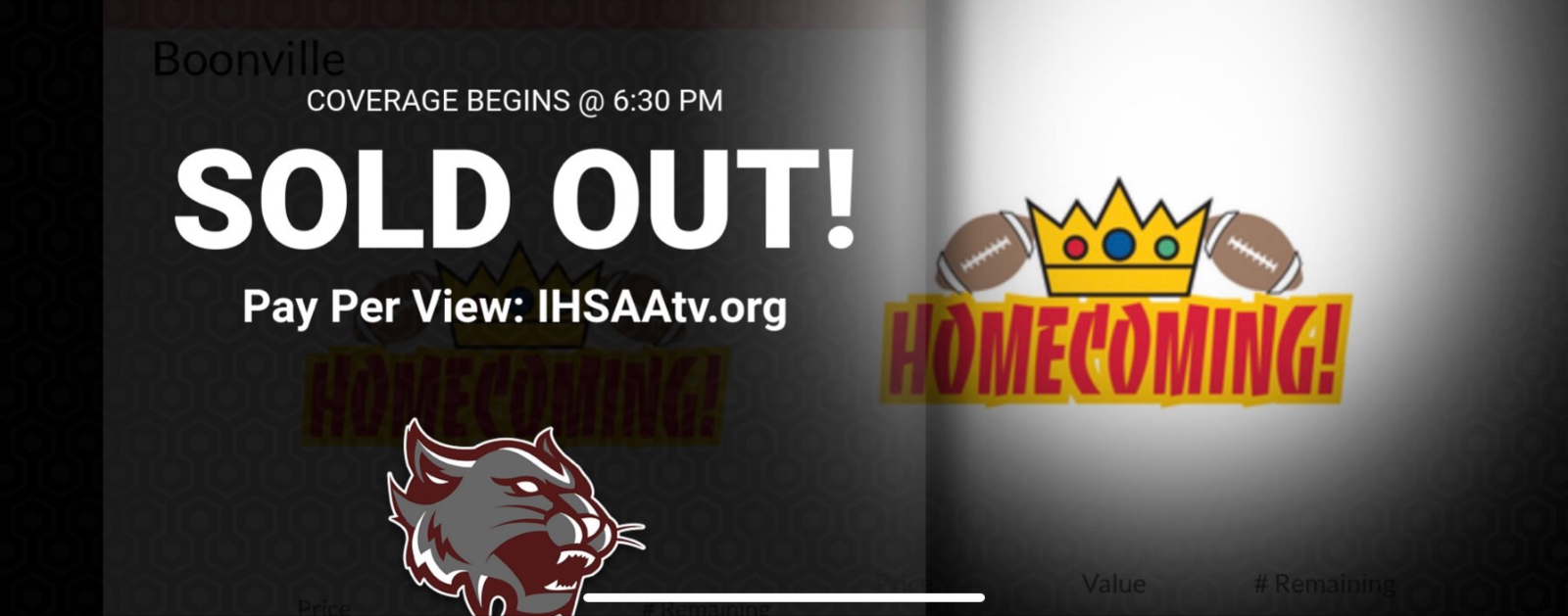 Homecoming Tickets are Sold Out!