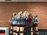 Girls Freshmen Volleyball end their season with a win against Southridge