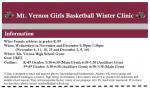 MV Lady Wildcat Basketball Winter Clinic