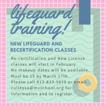 Lifeguard Training to be Offered!