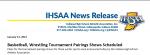 IHSAA NEWS RELEASE!