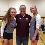 Wolverines Recognize Two Senior Volleyball Players in Area Win