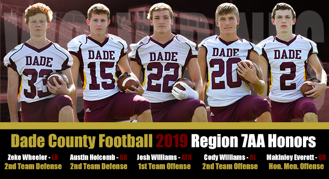 DCHS Football Region 7AA Honors