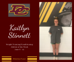 DCHS Weight Training/Conditioning Athlete of the Week June 8 -12