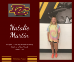 DCHS Weight Training/Conditioning Athlete of the Week June 8 – 12