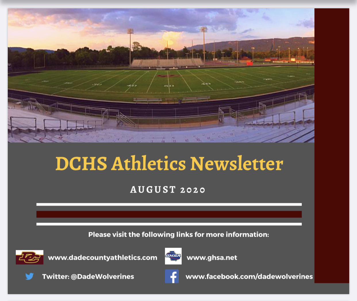 DCHS Athletics Newsletter August 2020 – Fall Sports Preview