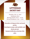 Letterman Jacket Fitting on Tuesday, October 13th