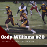Cody Williams Selected as Offensive Player of the Week