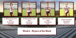 Players of the Week – Week 8 Coosa