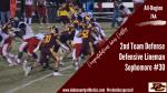 "Congratulations Lucas Costley – ""All Region 2nd Team Defense – DL"""