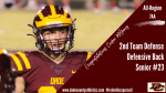 "Congratulations Cooper McGarey – ""All Region 2nd Team Defense – DB"""