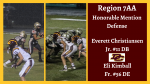 Region 7AA Honorable Mention Defense- Football