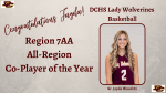 Congratulations Jayda Wood! Region 7AA Co-Player of the Year
