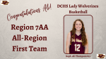 Ali Thompson Selected to First Team All-Region 7AA Team