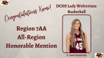 Kami Counts Selected to 7AA All-Region Team Honorable Mention