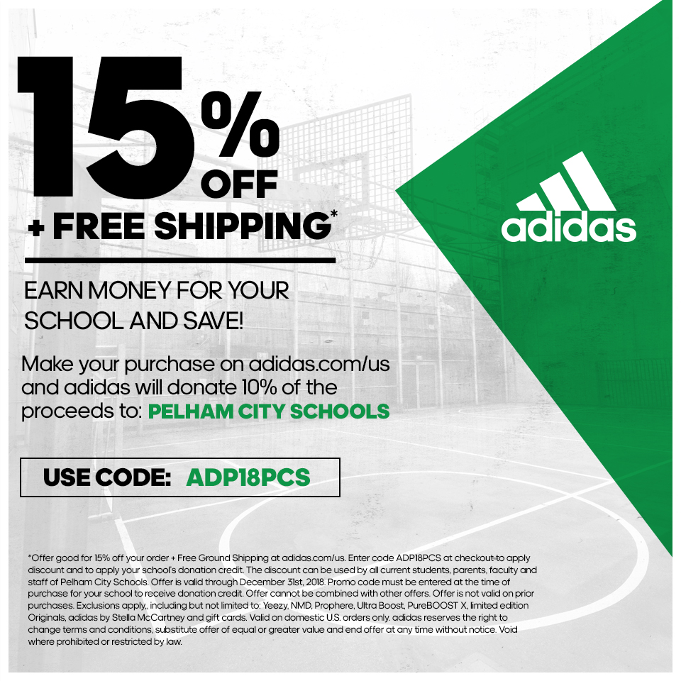 15% OFF & FREE SHIPPING- ADIDAS SALE