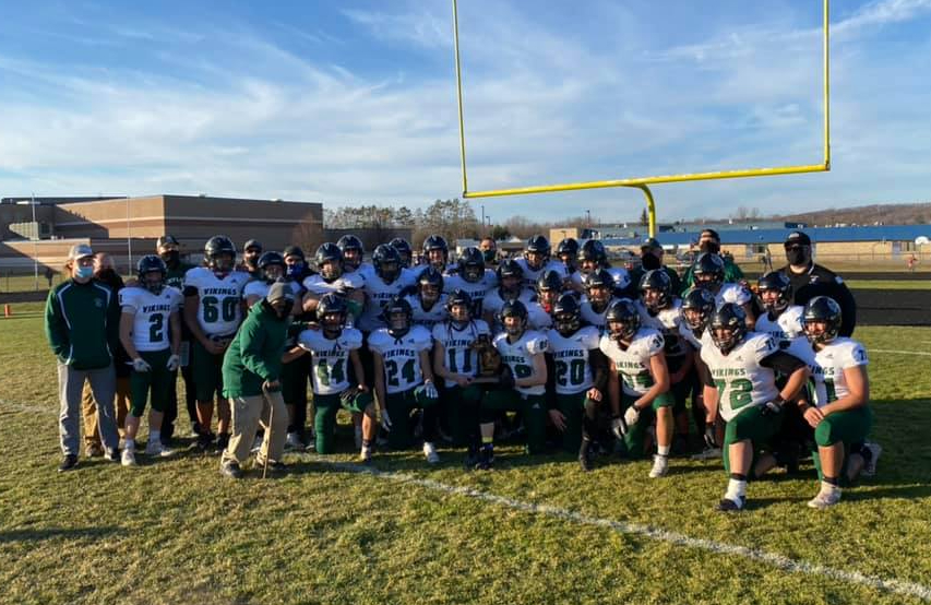 Varsity Football wins first district championship since 2005