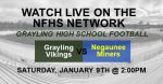 Grayling vs. Negaunee Football Game Information