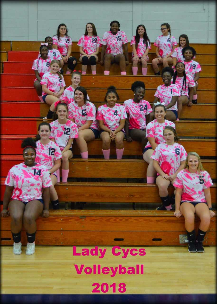 """Lady Cyclone Volleyball """"Pink Out"""""""